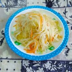 绿豆芽炒粉