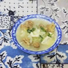 酥肉白菜豆腐