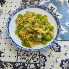 蚝油炒辣椒丁鸡蛋