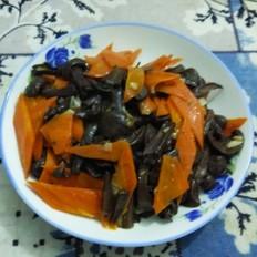 蘑菇炒胡萝卜
