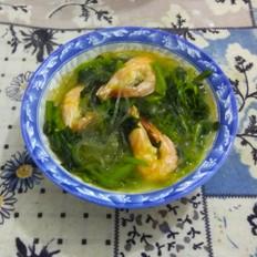 大虾菠菜粉条汤