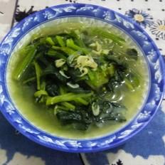 虾皮菠菜粉条汤