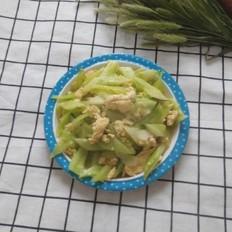 虾油炒鸡蛋瓜片