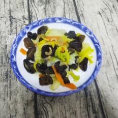 海米木耳炒白菜