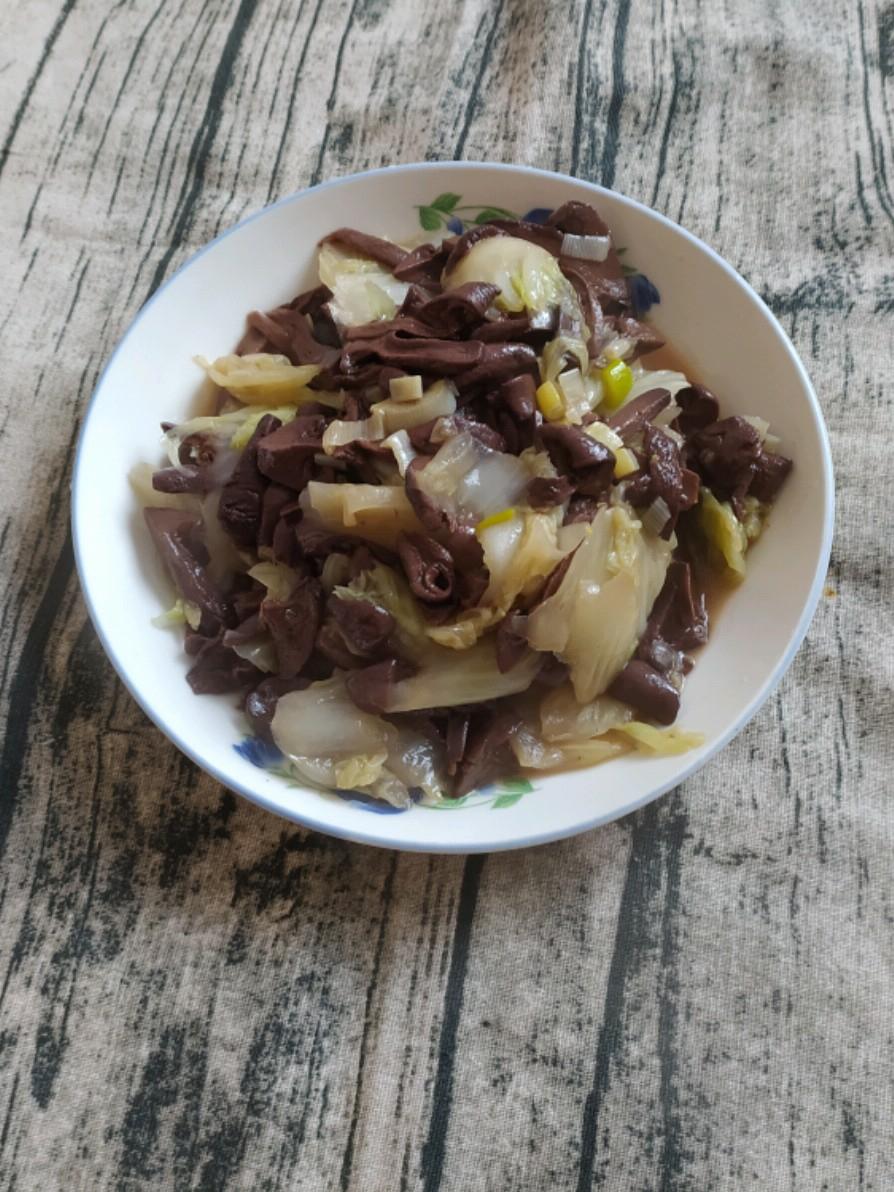 素炒白菜蘑菇