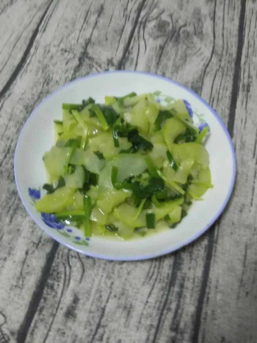韭菜炒角瓜