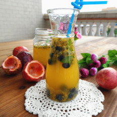 百香果蜂蜜果汁