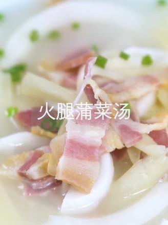 火腿蒲菜汤的做法