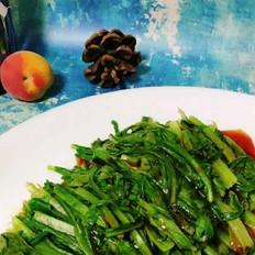浇汁油麦菜