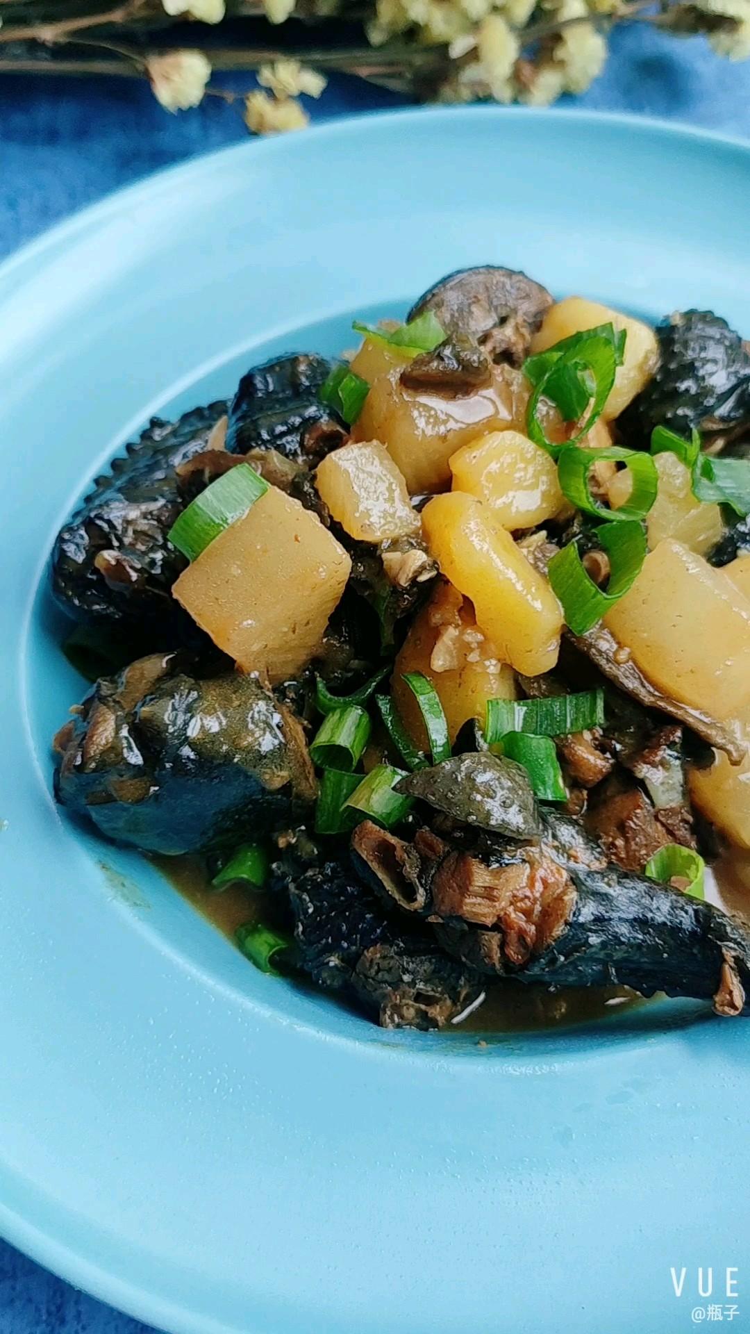 咖喱土豆萝卜炖乌鸡