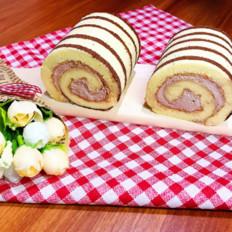 斑马蛋糕卷