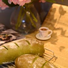 抹茶麻薯蜜豆软欧包