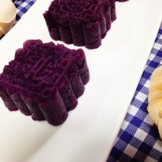 椰香紫薯糕