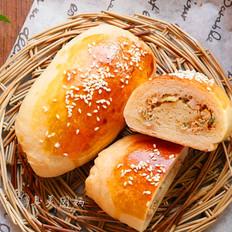 鲜肉榨菜面包