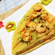 鲜虾胡萝卜椒盐煎饼