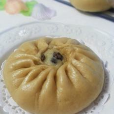 卡仕达蜜豆包子
