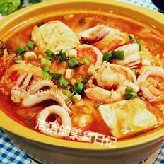 海鲜豆腐煲的做法