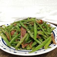 四季豆炒香肠
