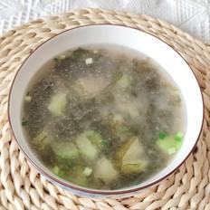 鲜美无比的丝瓜肉片汤的做法