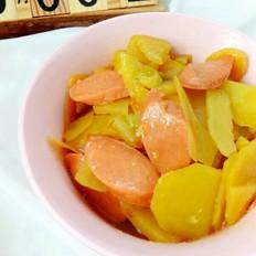 火腿肠炖土豆