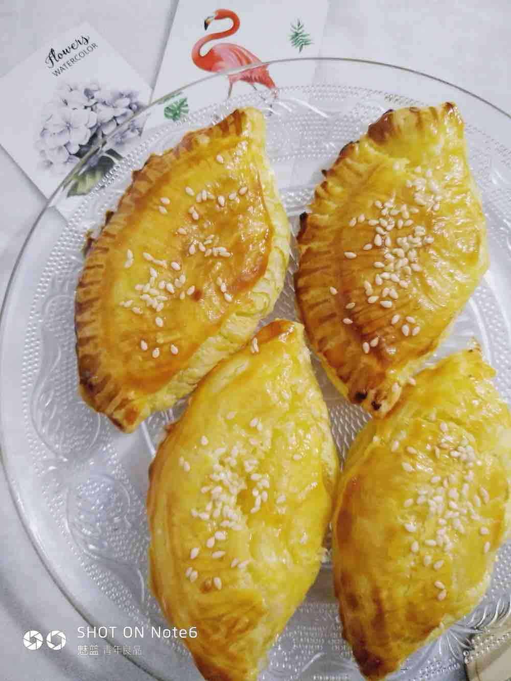 酥到掉渣的香蕉酥/榴莲酥,简单蛋挞皮芒果派/苹果派