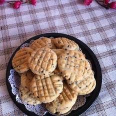 黑芝麻花纹饼干的做法