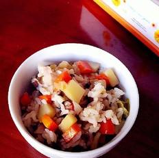 胡萝卜香菇焖饭
