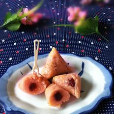 苋菜汁糯米粽子