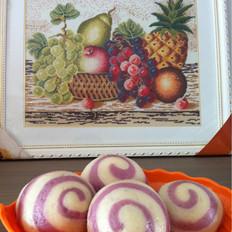 紫薯螺旋馒头