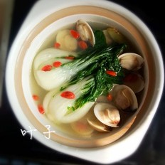 奶白菜蛤蜊汤