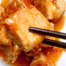炸豆腐酱汁豆腐