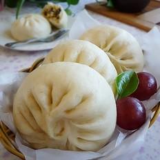香菇木耳白菜大素包子