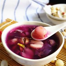 紫薯莲子银耳羹