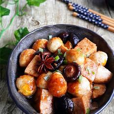 香菇冻豆腐烧鹌鹑蛋