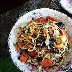 蒜香橄榄菜拌面