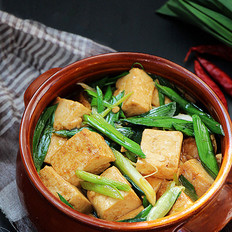 青蒜烧豆腐