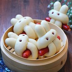 小兔子香肠馒头