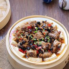 豆豉排骨蒸豆腐