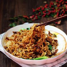 肉丝青菜干拌面#中卓炸酱面#