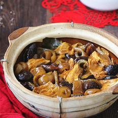 香菇腐竹焖肉皮