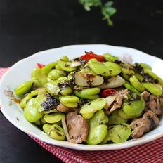 橄榄菜炒蚕豆