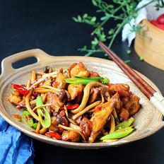 干锅茶树菇鸡块