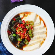 双椒皮蛋豆腐