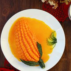 橙汁木瓜的做法