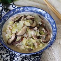 白菜香菇炒肉丝的做法