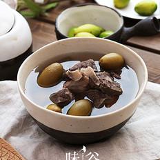 青橄榄猪肺汤