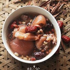 花生猪蹄筋汤