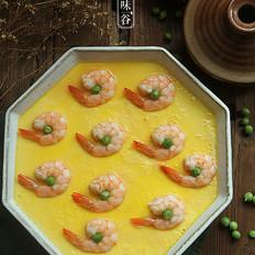 翡翠虾仁蒸蛋