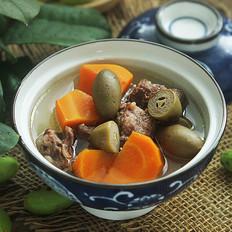 青橄榄红萝卜汤的做法