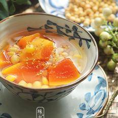 木瓜玉米大豆甜汤